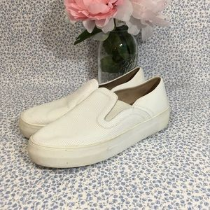 Vince Camuto Kyah2 White Leather Slip On Sneakers